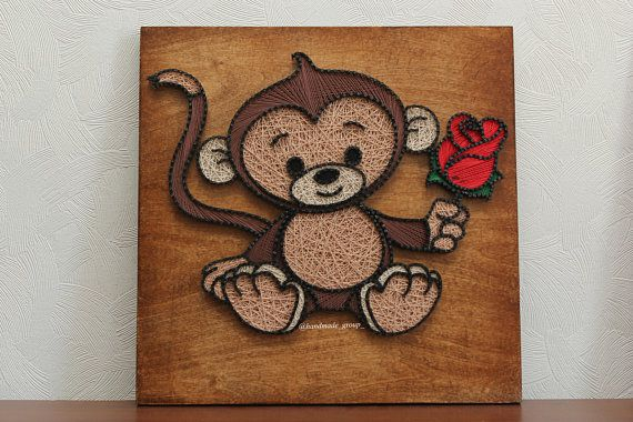 All of our pieces are handmade from locally sourced wood. We are open to all creative ideas and designs. As you can see from the photos the design is customize and comes with bronze nails for extra aesthetics. * Style of making: StringArt * All wall fixings are included. *