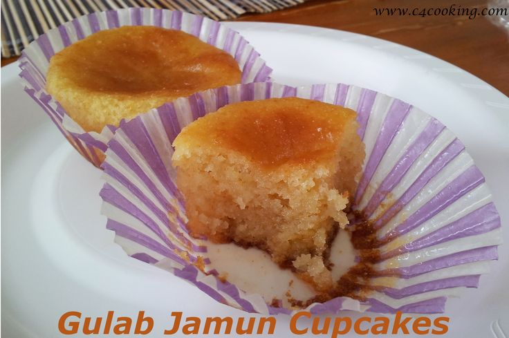 Gulab Jamun Cupcakes- I've been wanting to put gulab jamuns and cupcakes together