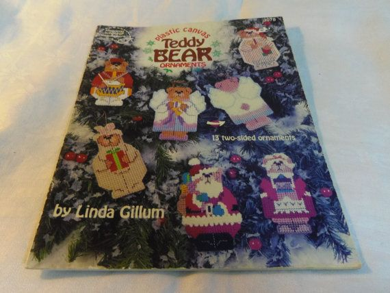 Plastic Canvas Patterns Teddy Bear Ornaments by CraftItWithLove