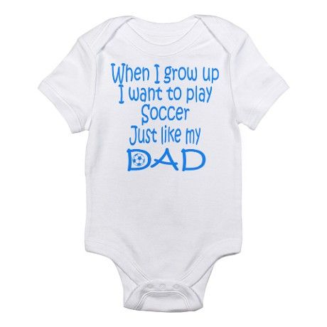 Soccer Just like Dad blue Infant Creeper