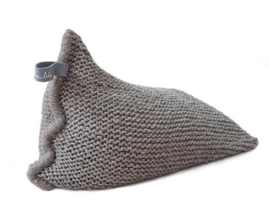 Nest (brown) > http://zilalila.com/shop/nest-brown #Zilalila #Nest #Wool #Knitted #Chunky #Fine #Kids #Label #Interior #Nepal #Fairtrade #Friendly #Conscious #Beanbag #Eco #Children #Grey #White #Brown