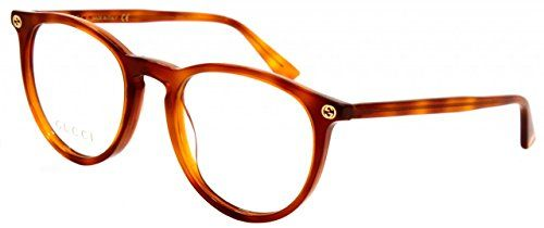 966600f0d9 Gucci GG 0027O 001 Transparent Havana Plastic Round Eyeglasses 50mm ...