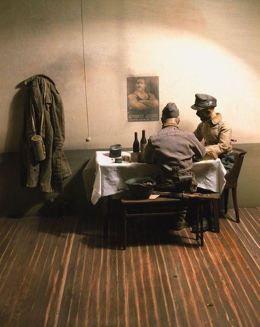 War Souvenir #7 (German soldiers in a trattoria in Vimercate), 2005, by Paolo Ventura  IMPRESION DIGITAL CROMOGENICO