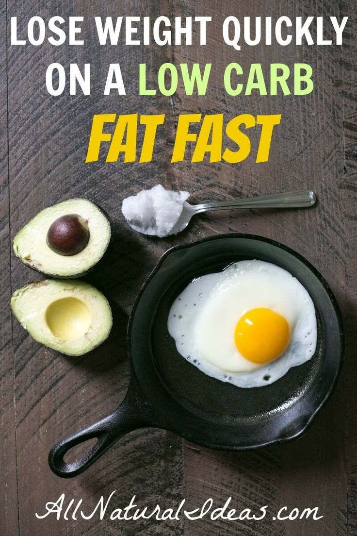 Have you heard of the low carb fat fast plan? It's a short term diet that's high in fat and low in calories. Most people lose weight quickly on a fat fast. | allnaturalideas.com