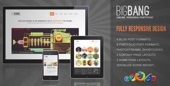 Download and review of Bigbang - Responsive WordPress Template, one of the best Themeforest Creatives themes