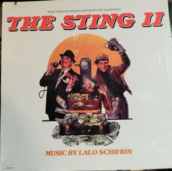 "Sting II (1982 music Lalo Schifrin, vocal Linda Hopkins ""Most Men"") Mint 12"" Vinyl LP Original Soundtrack Recording; Jackie Gleason"