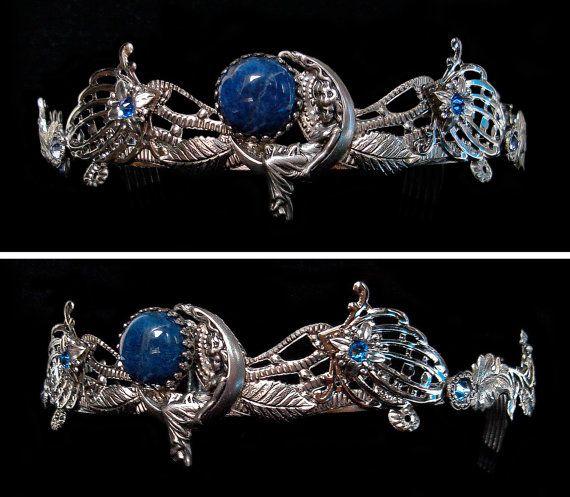 Blue Moon Crown Night Goddess Circlet Silver