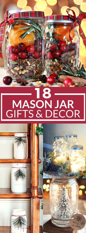 18 DIY Christmas Mason Jars to Gift