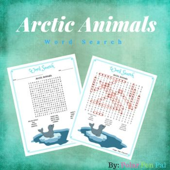 Q: What animals really live in the Arctic? Hint: Penguins Don't! A: Find out in the Word Search ! Use this word search to help kids understand what animals REALLY live in the Canadian Arctic, with the focus being on animals found in Nunavut. Being that we actually LIVE in the arctic...