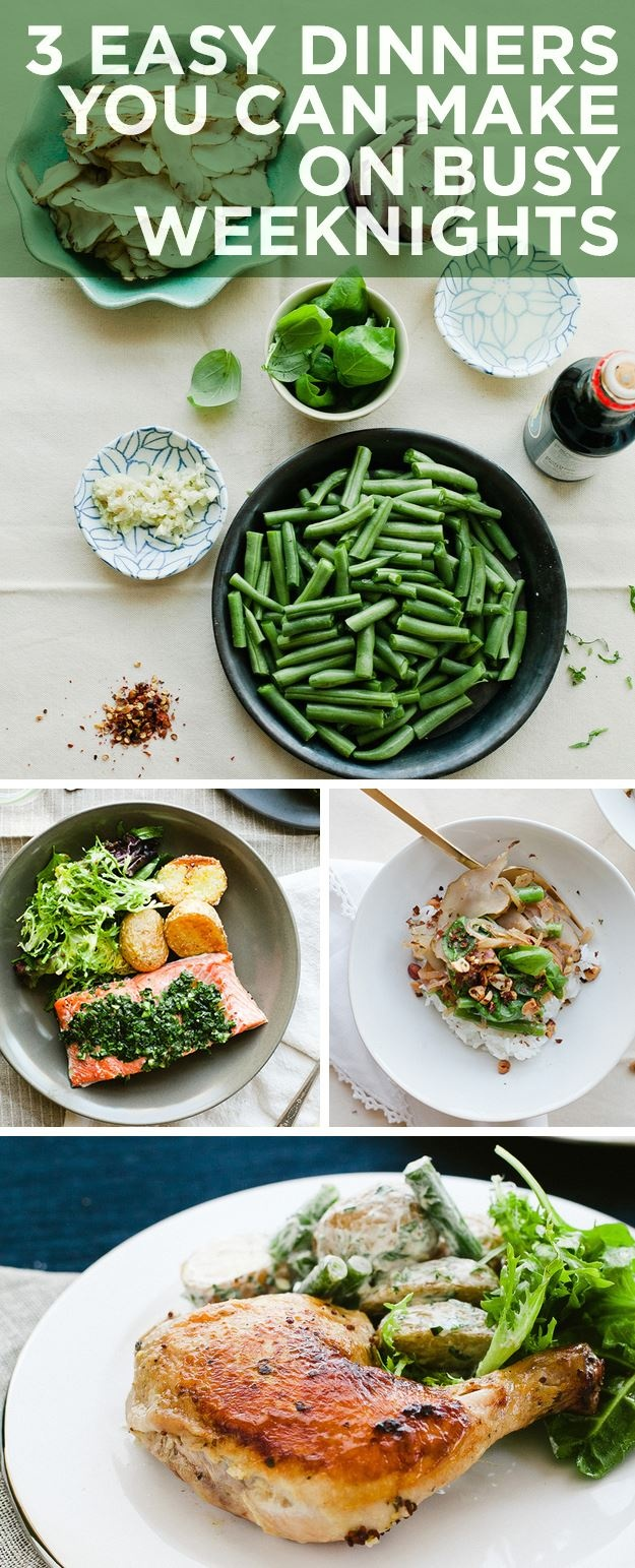 3 Easy Dinners You Can Make On Busy Weeknights