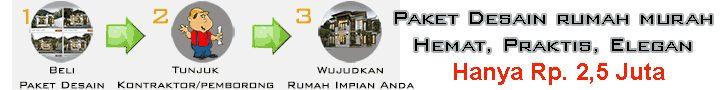 Pertama di Indonesia! PRAKTIS,MURAH,ELEGAN,LENGKAP PAKET DESAIN RUMAH JADI khusus tanah 100m2/1 are  Tersedia 4 tipe,8 varian: 1 Lantai 2 kamar, 1 Lantai 3 kamar, 2 Lantai 3 kamar, 2 Lantai 4 kamar  Tersedia untuk lebar tanah 6 s/d 12 meter,harga paket: Rp 2,5 juta - 5 juta Lengkap dg Gambar Teknis,Gambar 3D Exterior,RAB,Video 3D,Guide Book,Interior Sugested,Desain Gate. Siap pakai,siap kirim ke tempat Anda. Silahkan pilih sesuai dg ukuran tanah Anda disini…