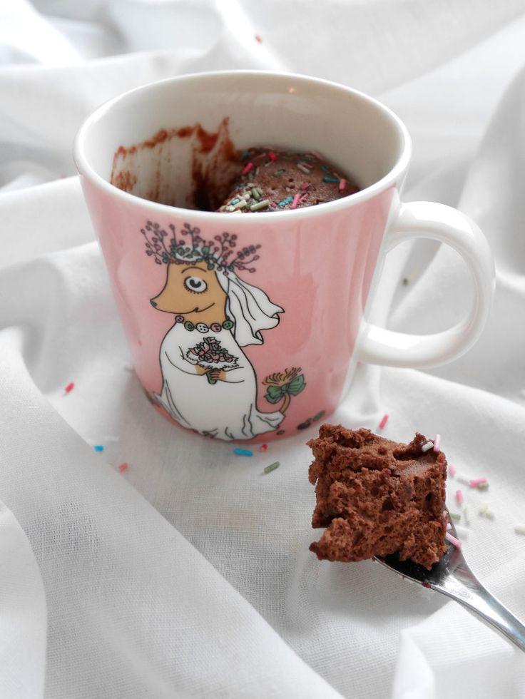 Easy and delish mugcake! Takes less than 3 minutes to make.