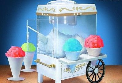 Snow Cone Maker Vintage Sno Machine Shaved Party Slushie Electric Crusher Fruity