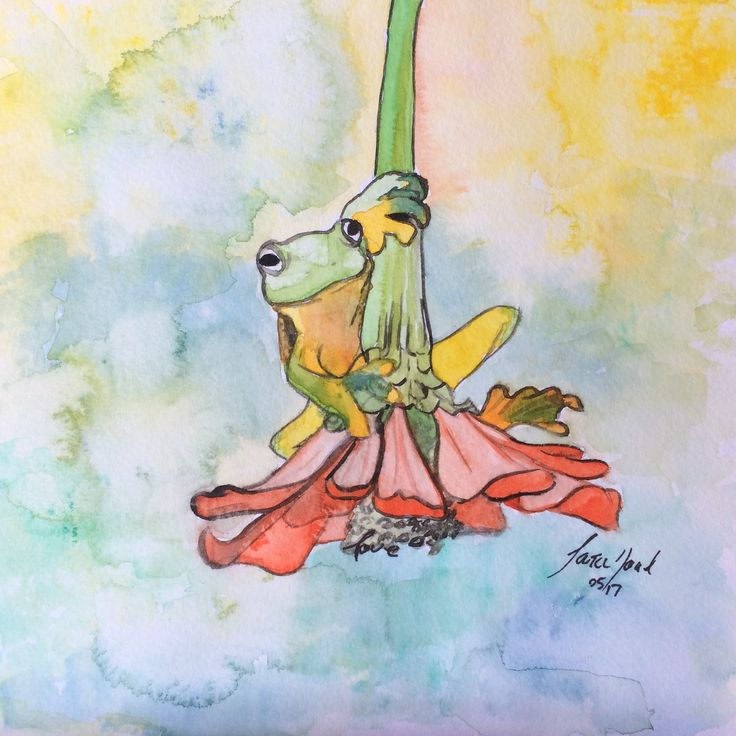 Frog for Mom's birthday. ~ Sara Noad