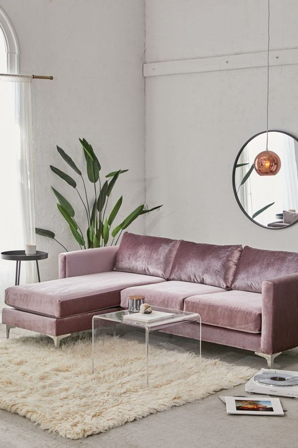 Chamberlin Velvet Sectional Sofa Velvet Sectional Living Room Sofa Living Room Designs #sectional #couch #in #living #room