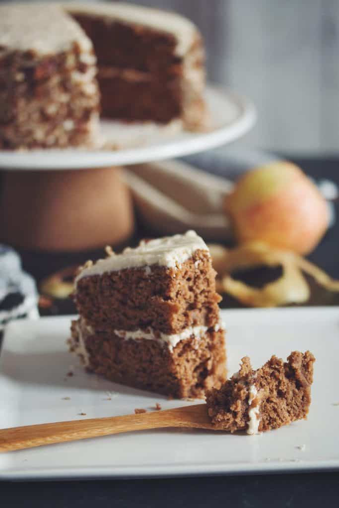 Vegan Apple Spice Cake With Maple Buttercream Hot For Food By Lauren Toyota Recipe In 2020 Spice Cake Spiced Apples Apple Spice Cake