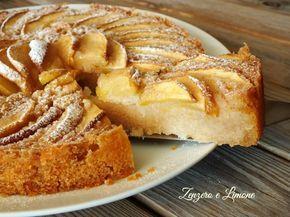 torta di mele all'acqua - fetta