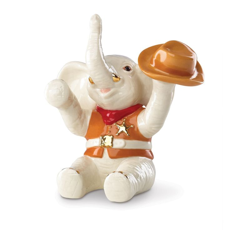 Lenox Cowboy Up! Elephant Figurine