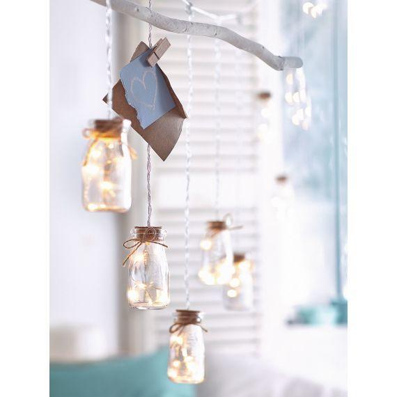 Lichterkette, mit Vorratsgläsern, 50 LED's, Batteriebetrieb Katalogbild