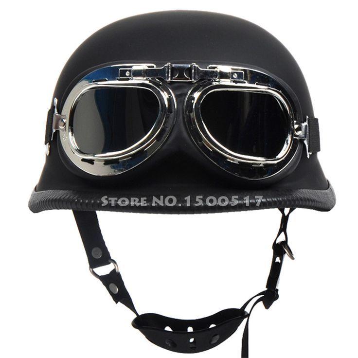 Barato Segunda guerra mundial alemão estilo vintage motorcycle cruiser meia capacetes capacete de moto motocicleta capacete casco casque com óculos gratuitos, Compro Qualidade Capacetes diretamente de fornecedores da China: EUA $69.38EUA $69.70EUA $12.98EUA $89.27                   SEGUNDA GUERRA MUND