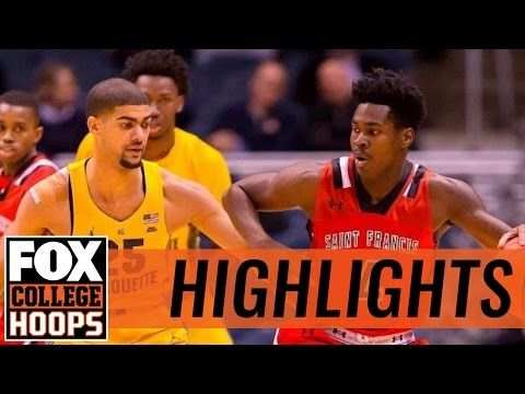 Marquette Golden Eagles def. St. Francis Red Flash in Milwaukee | 2016 COLLEGE BASKETBALL HIGHLIGHTS