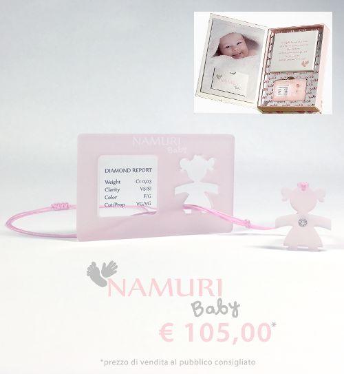 https://itcportale.it/products/cofanetto-namuri-baby-stella-2/#store3378 https://itcportale.it/products/cofanetto-namuri-baby-bambolina-2/#store3378 A un bambino che nasce regala un diamante, il suo amuleto per una vita brillante. Un ciondolo con un diamante nel cuore: Una Bambolina. La tavoletta per l'impronta del suo piedino…un ricordo che non ha prezzo.  Cofanetto Namuri Baby: Bambolina è una nuova campagna di Saray Store su ITC PORTALE #itcportale 