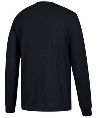 adidas Men's Pittsburgh Penguins Line Shift Long Sleeve T-Shirt - Black XL