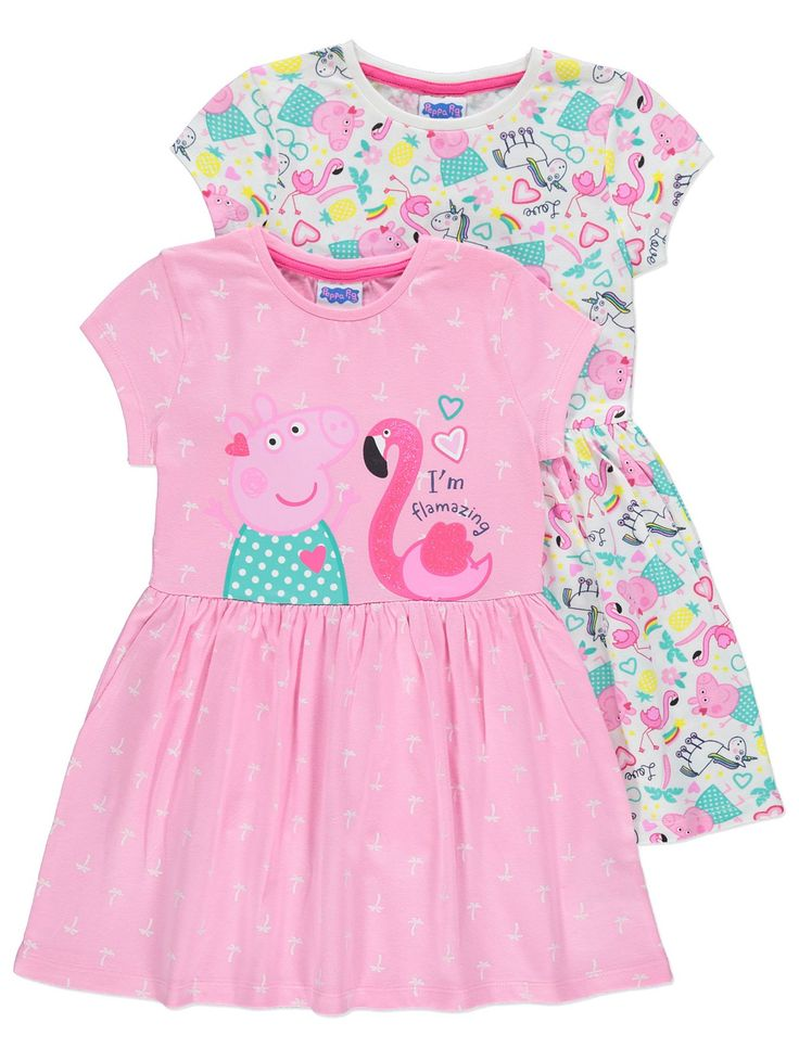 Peppa pig unicorn jersey dresses 2 pack kids