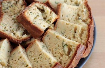 Apéritif dinatoire #90 - Cake au chèvre frais, courgette et menthe