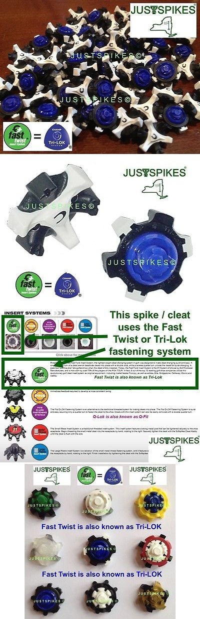 Golf Spikes 66814: 60 Stinger White Fast Twist Tri Lok Golf Spikes Cleats Champ Justspikes BUY IT NOW ONLY: $35.55