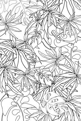 Examples of motif Free Sketch Graphic Design Pattern Jungle Tropical 3, Zentangle, Sketch Drawing