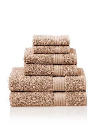 55% OFF Savannah by Chortex 6 Piece Towel Set, Cappuccino