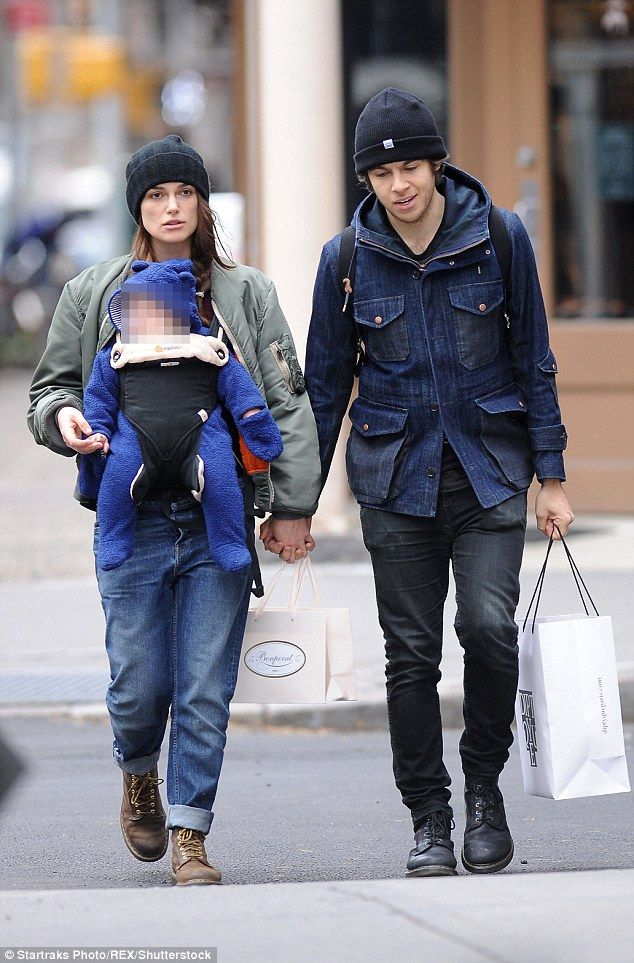 Adorable:Keira Knightley, her husband James Righton and their daughter Edie continue to l...