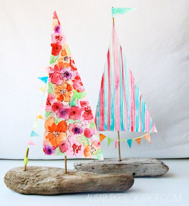 Kids Craft Delightful Driftwood Boat!