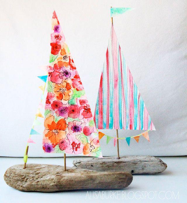 Kids Craft Delightful Driftwood Boat!