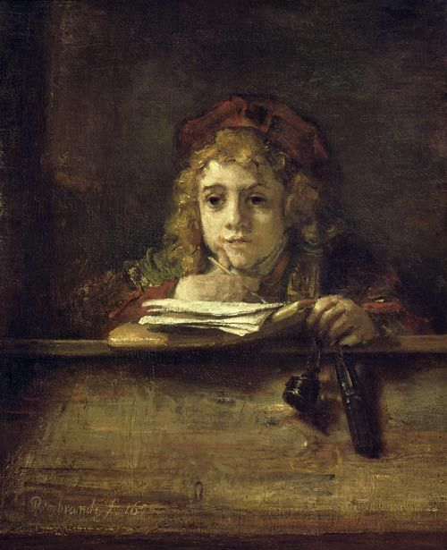 Rembrandt van Rijn - Titus at his table