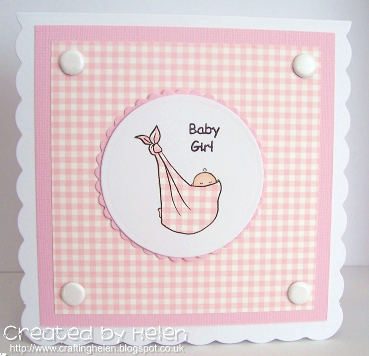 Card made using the new Dinkies 'Baby Sling' stamp from Little Claire