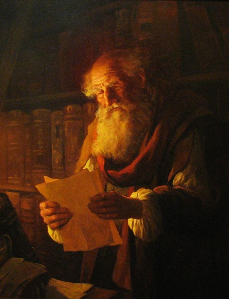 (Andrey Shishkin) - У свечи - художник Андрей Шишкин