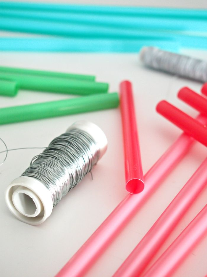 DIY wire straws