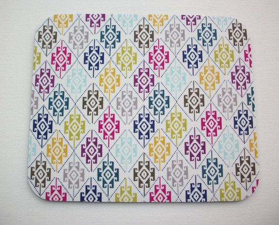 Mouse Pad mouse pad / Mat  aztec southwestern shapes by Laa766 chic / cute / preppy / laptop accessory / desk, computer accessory / office decor / gift / patterned design / school