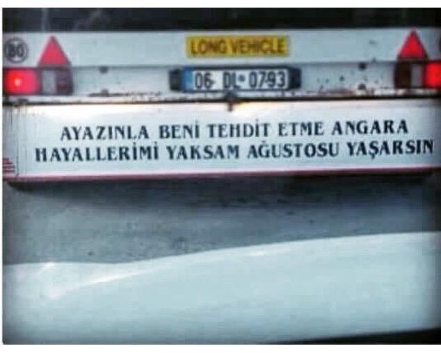 #SensizGecelerdeBen kamyon arkası laflarına sardım