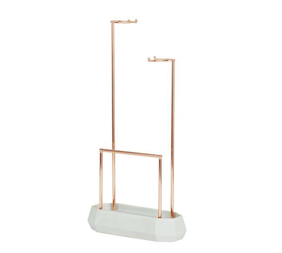Rose Gold Effect Jewellery Hanger With Concrete Base At Argos Co Uk