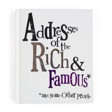 Address Book Rich and Famous. $28.00