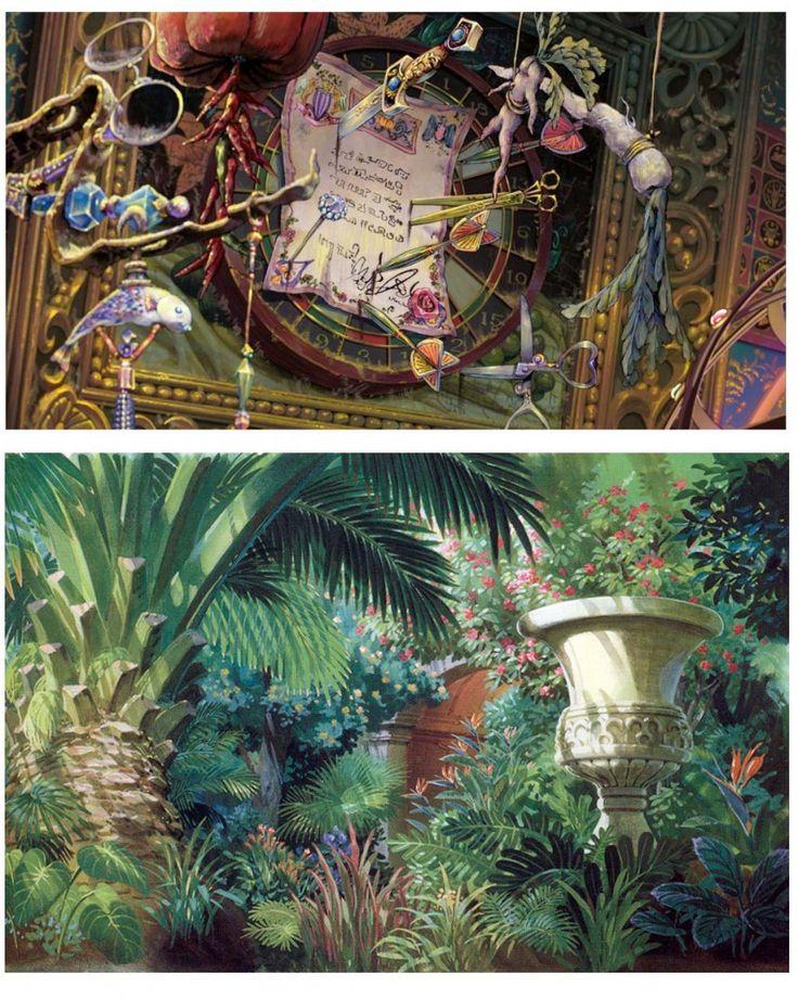 concept art for hayao miyazaki's 2004 film, ハウルの動く城 / hauru no ugoku shiro / howl's moving castle.