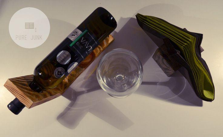 #wood #wine #stand #bottle #decoration #recycle #design #handmade by...  www.purejunk.sk www.facebook.com/purejunkdesign