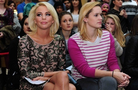 The Show: Enchanted host, Lydia Bright, takes her place on front row alongside the catwalk.