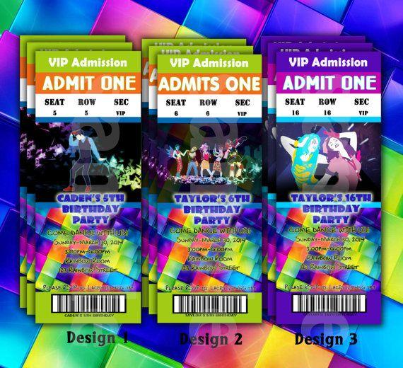 Disco Party Invites E