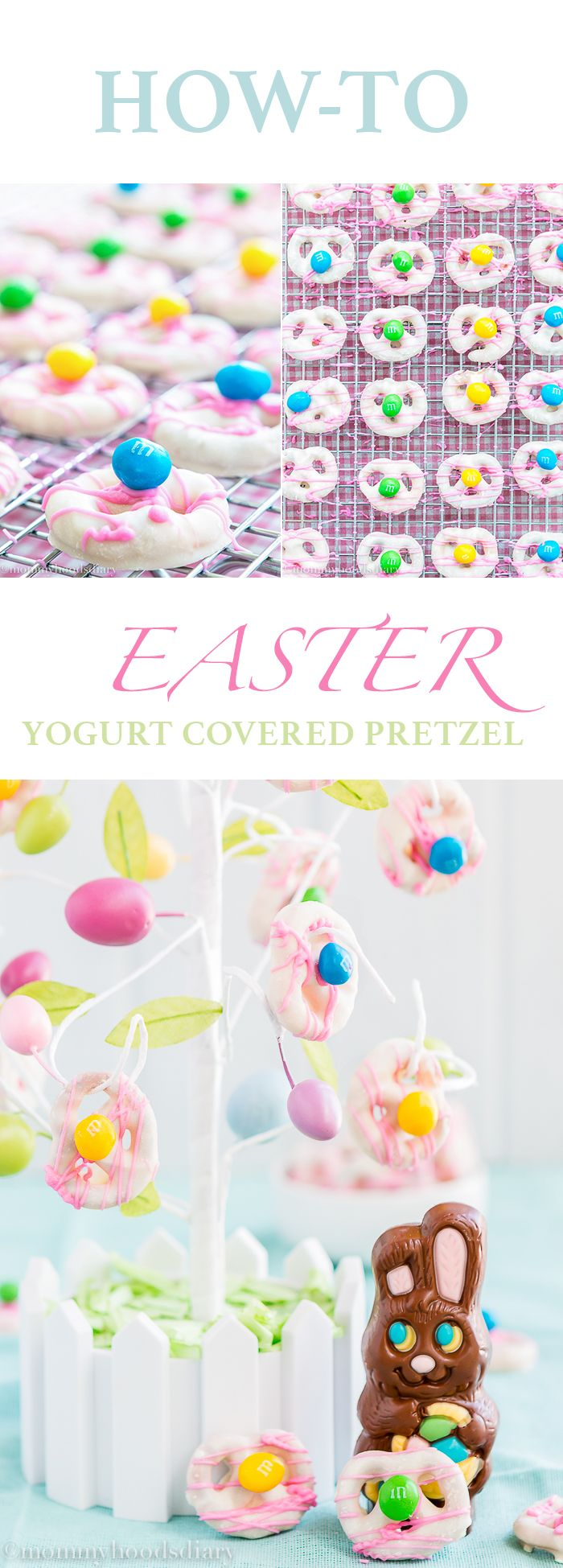How To Make Easter Yogurt Covered Pretzels | Mommyhood's Diary