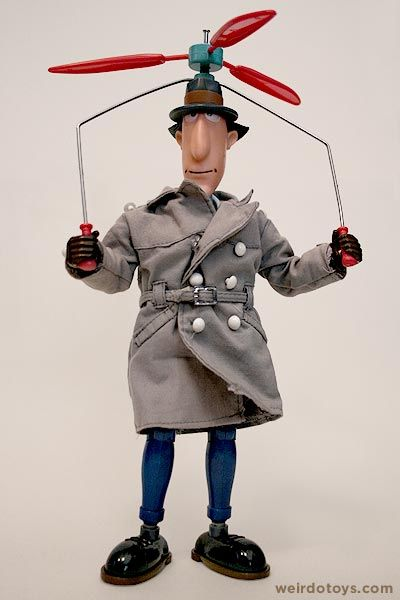 My favorite!!! Inspector Gadget Action Doll by Galoob 1983
