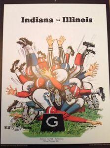 Illinois Indiana Football Poster Print October 15 1966 Program Retro 11x14 New